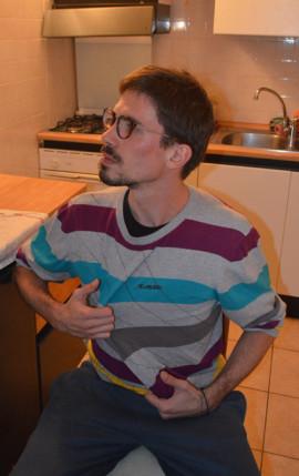 Foto originale del Ritratto su commissione di un Ragazzo con gli Occhiali